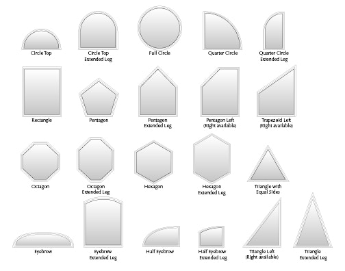 Picture Window Specialty Shapes